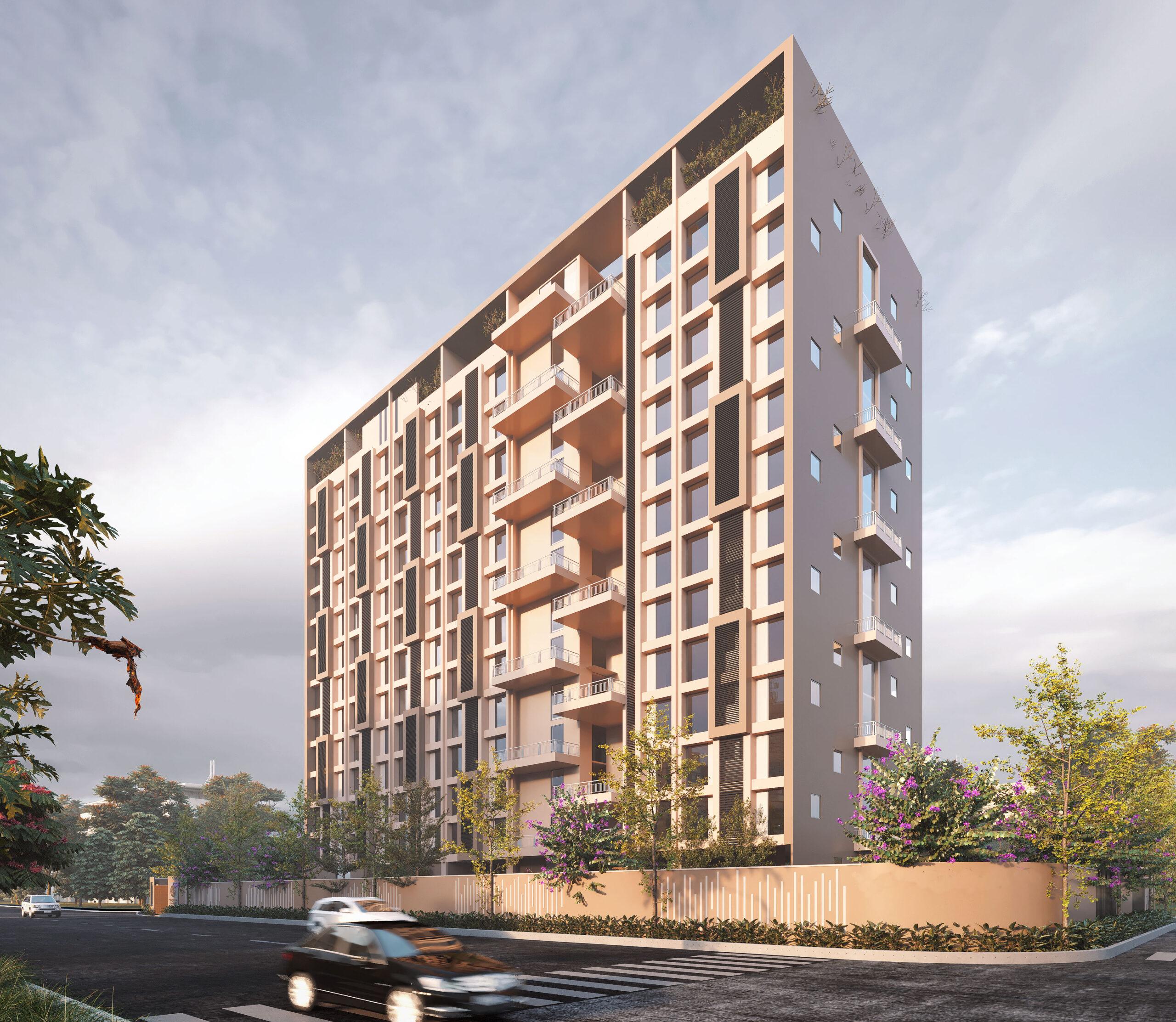 multi storey building best exterior rendering