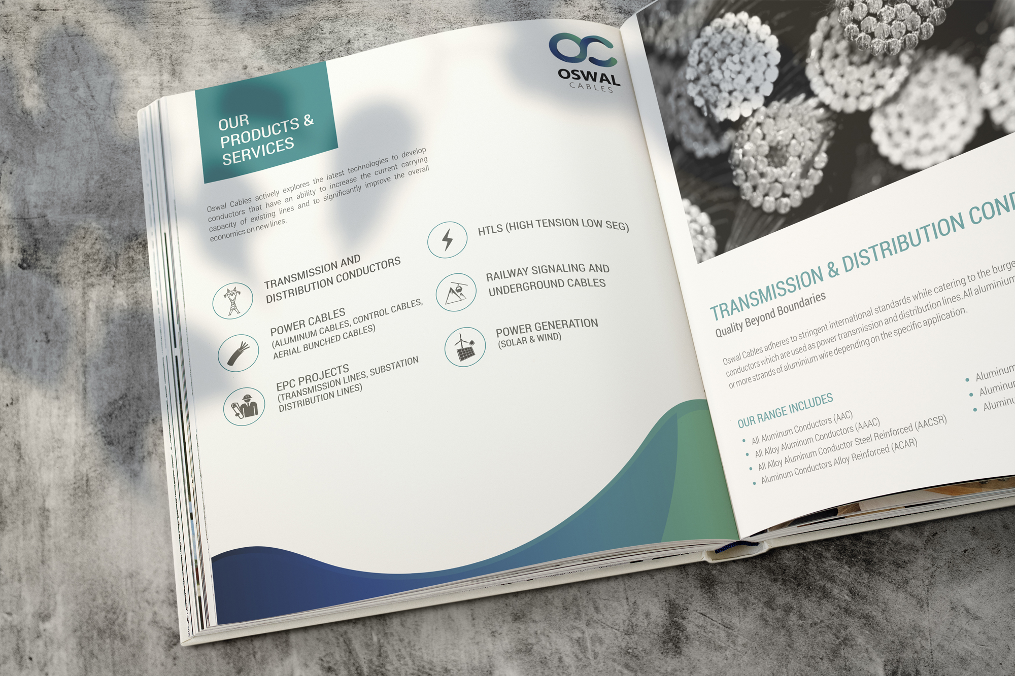 oswal cables 3d rendering brochure