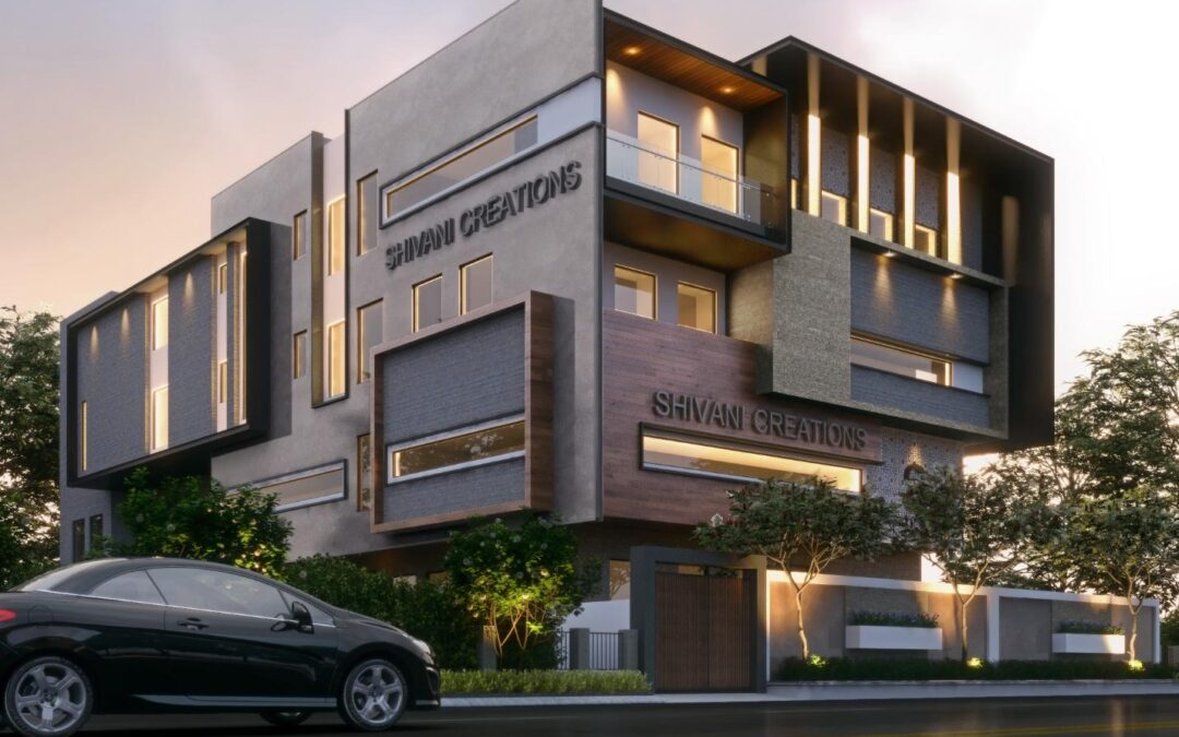 Architecture 3D Design and 3D Modeling Rendering Concepts
